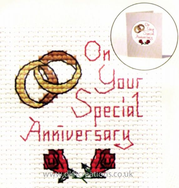 On Your Special Anniversary Card Cross Stitch Kit